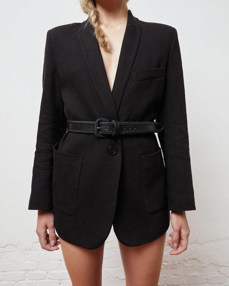 cinturón piel negro modelo