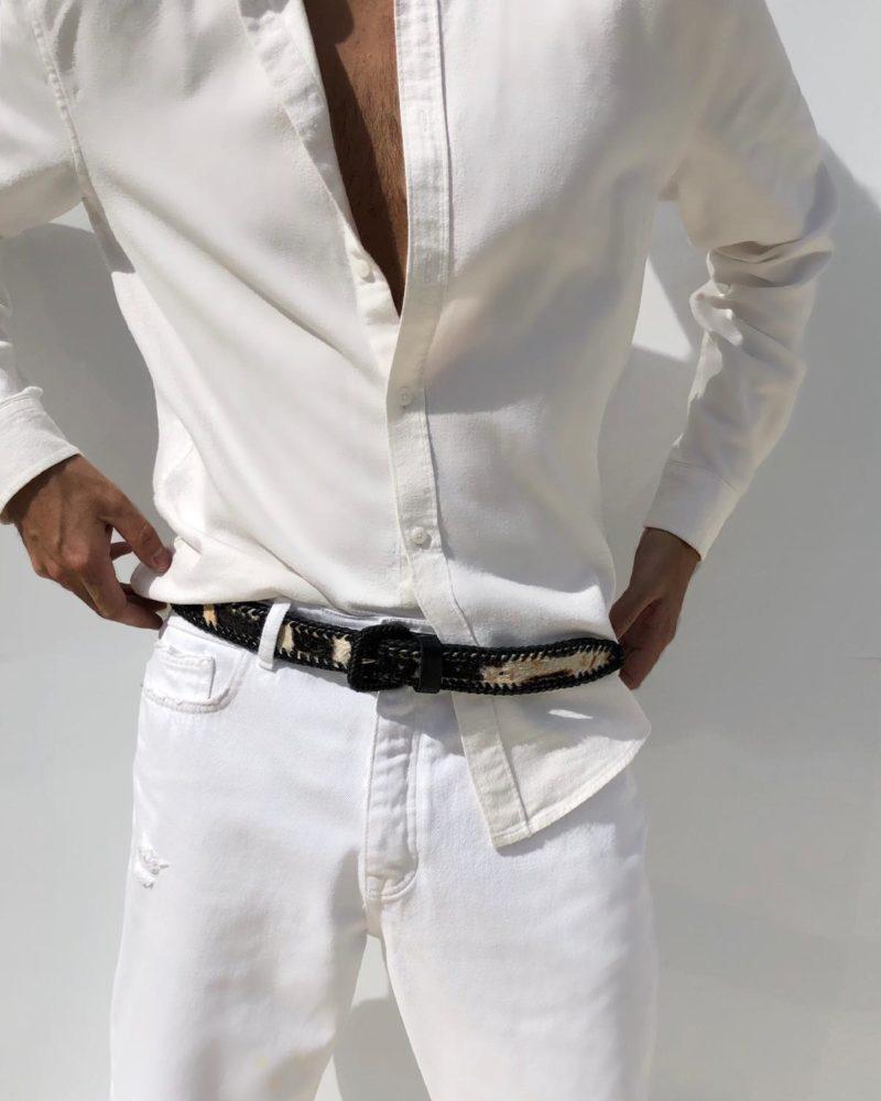 cinturón vaca modelo