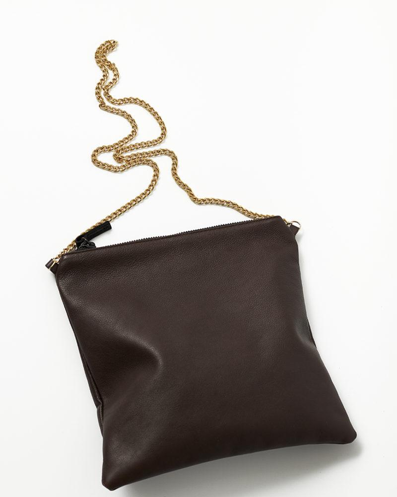 bolso cadena piel marrón